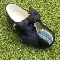 4923 Navy Patent Bow Mary Jane